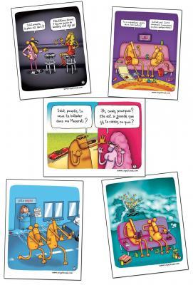 Lot de 5 cartes